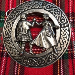 "Scottish Kilt Fly Plaid Brooch "" Highland Dancers"""